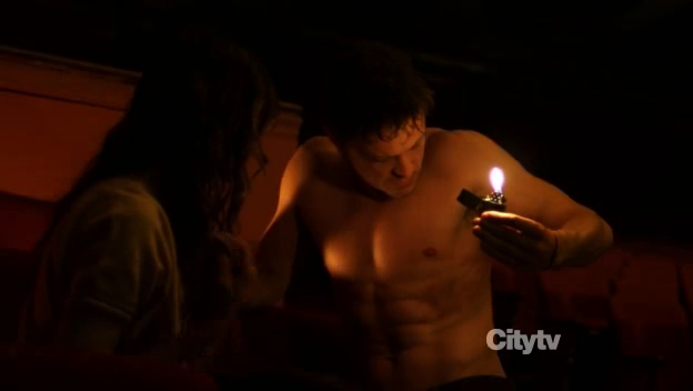 David Lyons as Vince Faraday/The Cape shirtless in The Cape