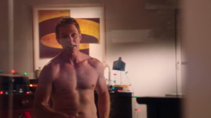 "Sebastian Stan as T.J. Hammond and David Monahan as Sean Reeves shirtless in Political Animals 1×04 ""Lost Boys"""