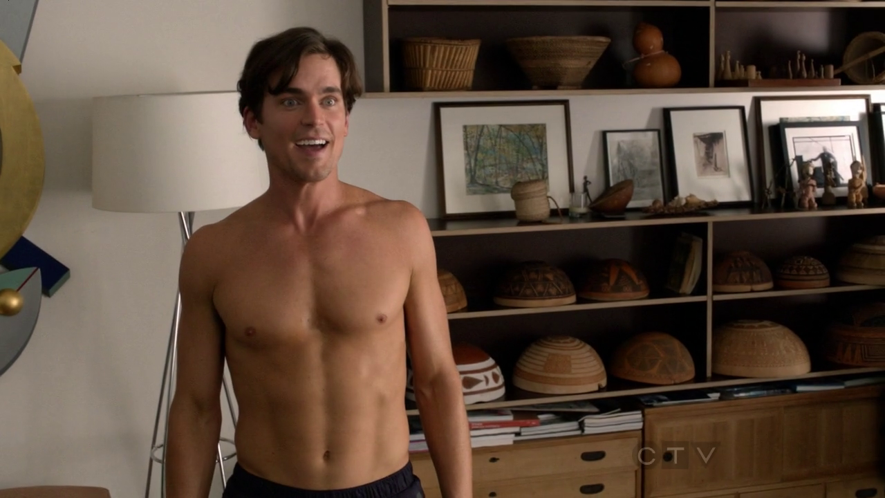 """Matt Bomer as Monty shirtless in The New Normal 1×12 """"The Goldie Rush"""""""