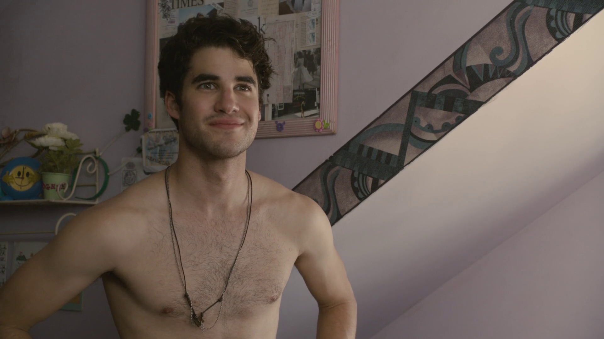 Darren Criss as Lee shirtless in Girl Most Likely
