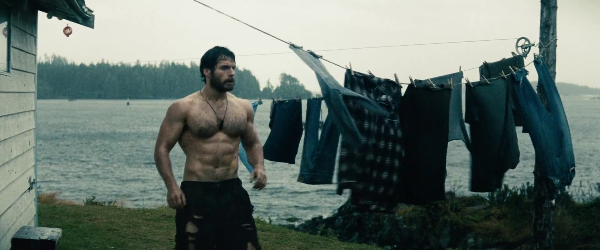 Henry Cavill as Kal-El/Clark Kent/Superman shirtless in Man of Steel