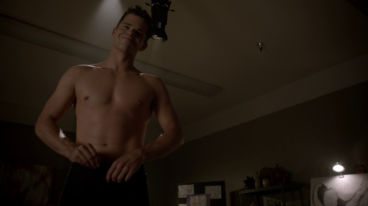 "Max Carver as Aidan shirtless in Teen Wolf 3×18 ""Riddled"""