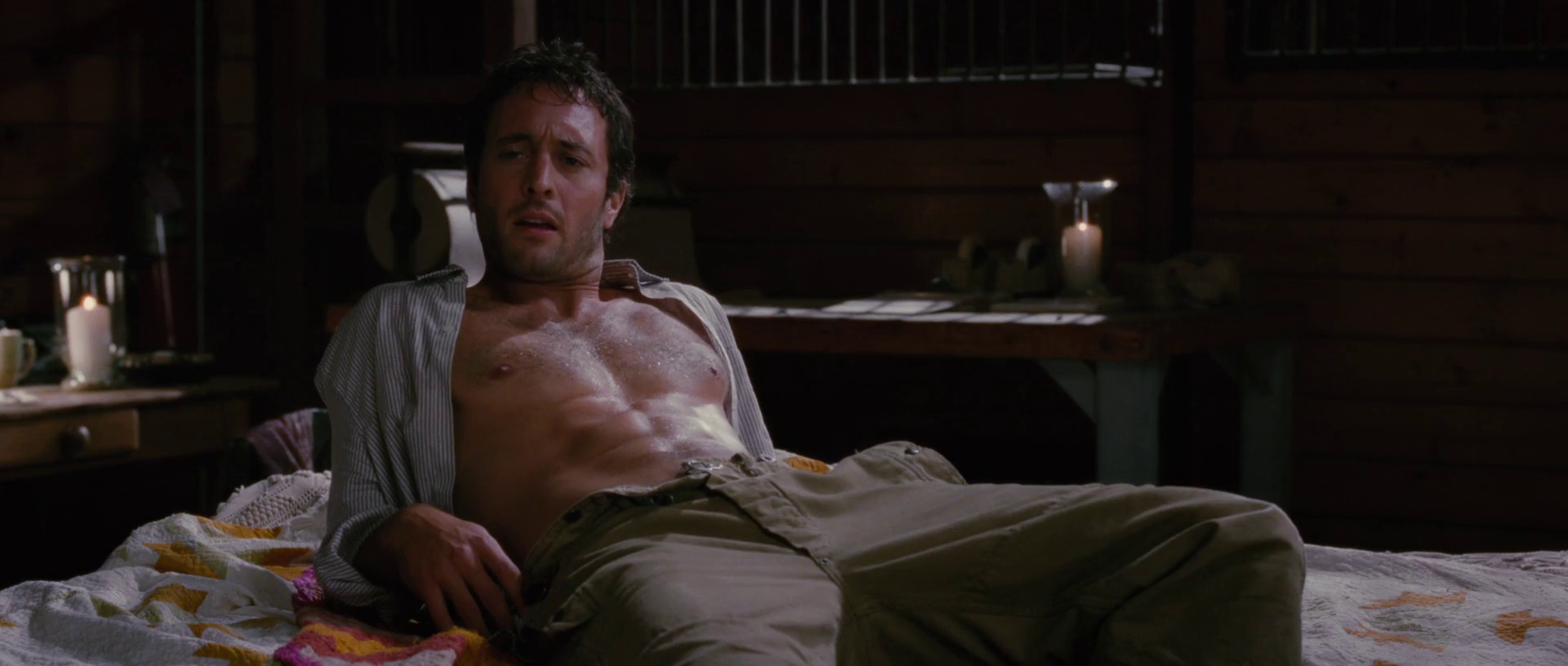 Alex O'Loughlin as Stan shirtless in The Back-up Plan