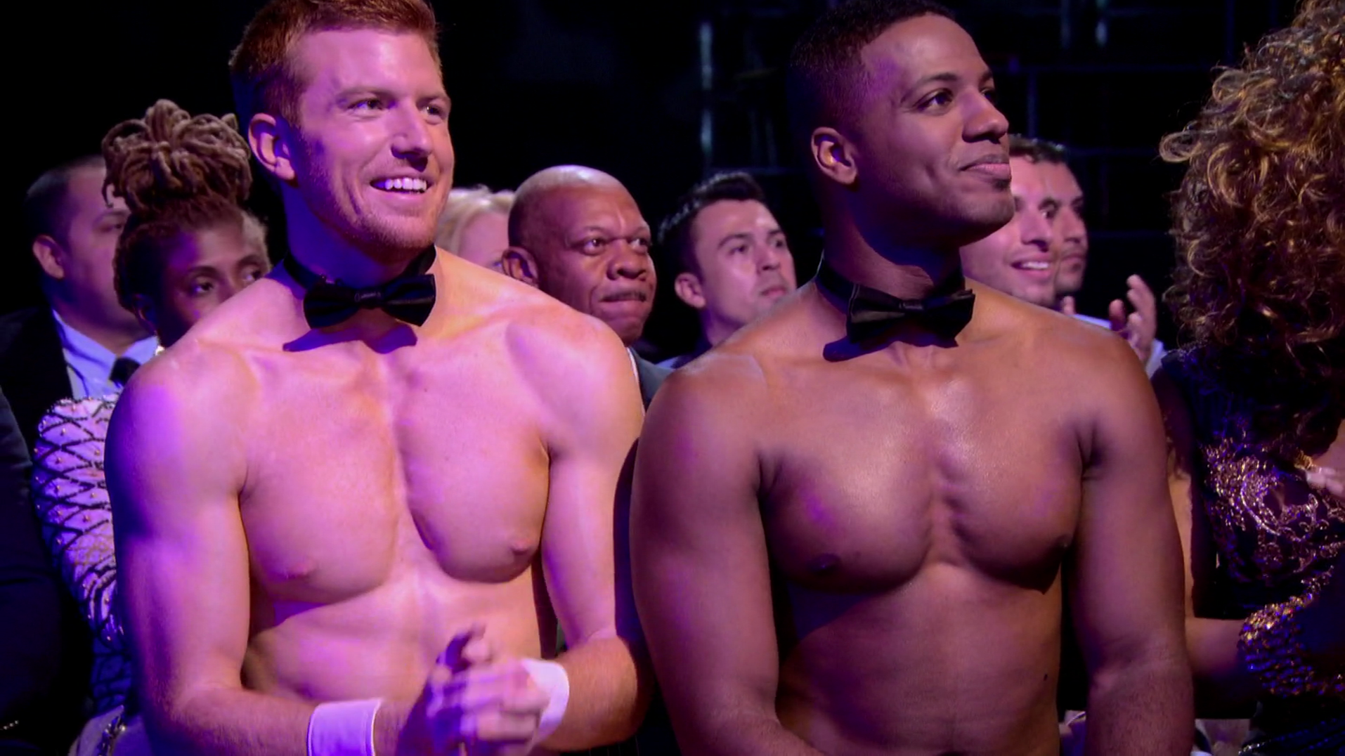 "Bryce Eilenberg & Jason Carter shirtless in RuPaul's Drag Race 7×05 ""The Despy Awards"""