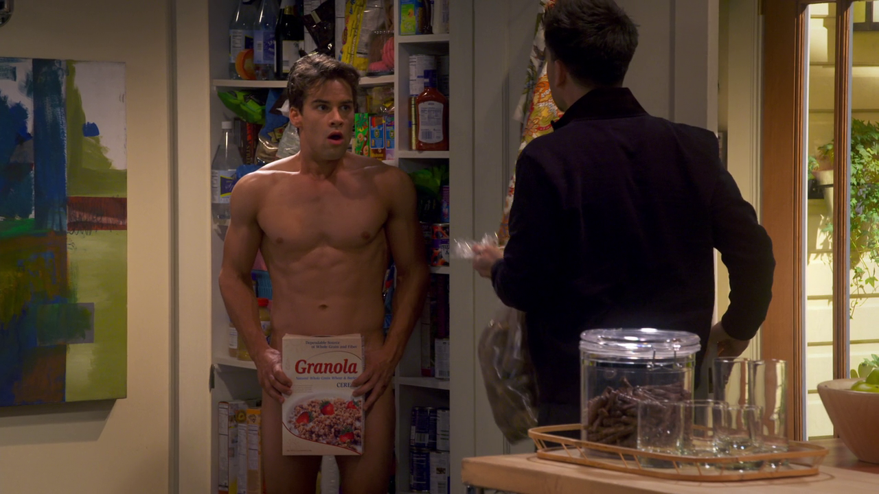 "Andrew Lees as Oliver shirtless/naked in Your Family Or Mine 1×08 ""The Pantry"