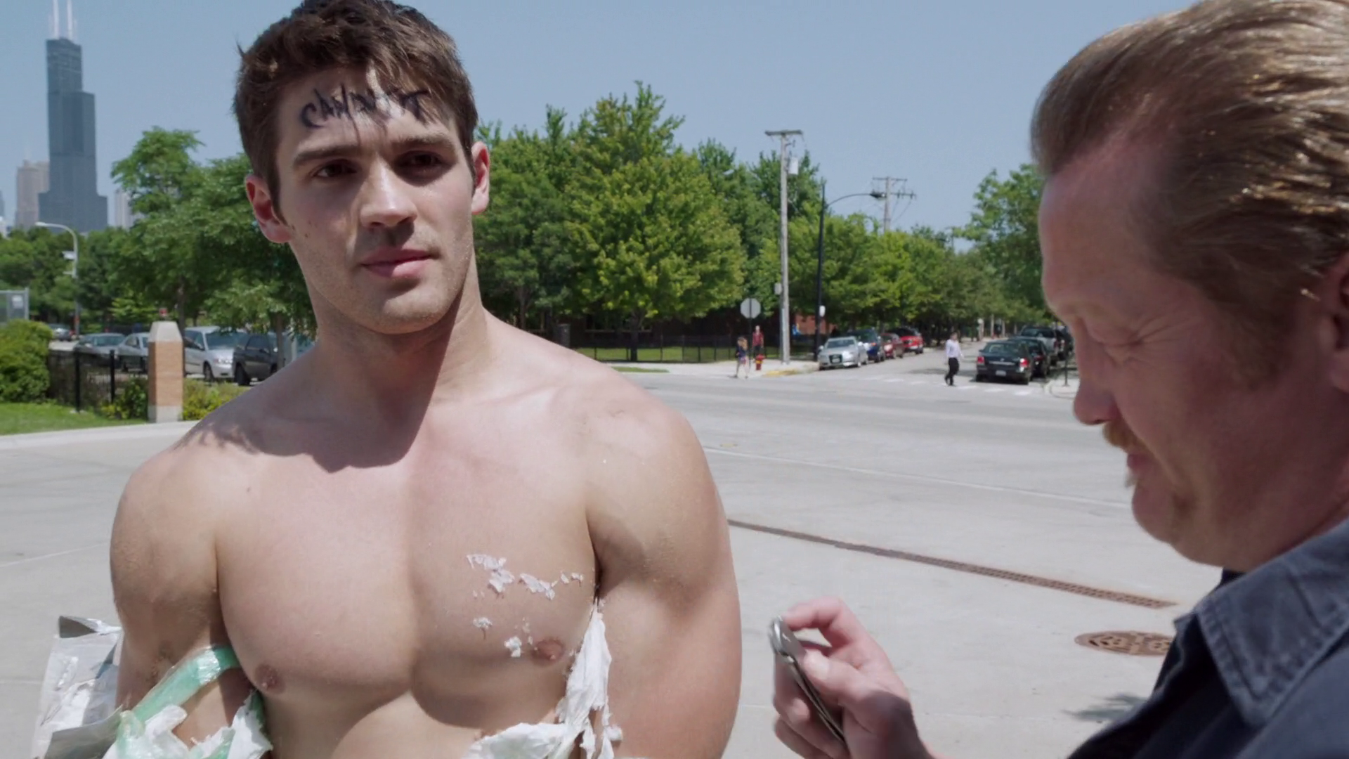 "Steven R. McQueen as Jimmy Borrelli shirtless in Chicago Fire 4×01 ""Let It Burn"""
