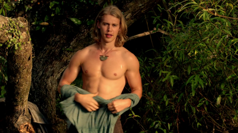 "Austin Butler as Wil Ohmsford shirtless in The Shannara Chronicles 1×05 ""Reaper"""