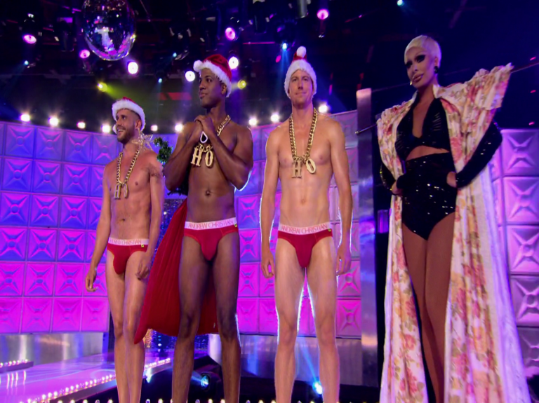 "RuPaul's Drag Race (season 8) Scruff Pit Crew shirtless in 8×01 ""Keeping It 100!"""