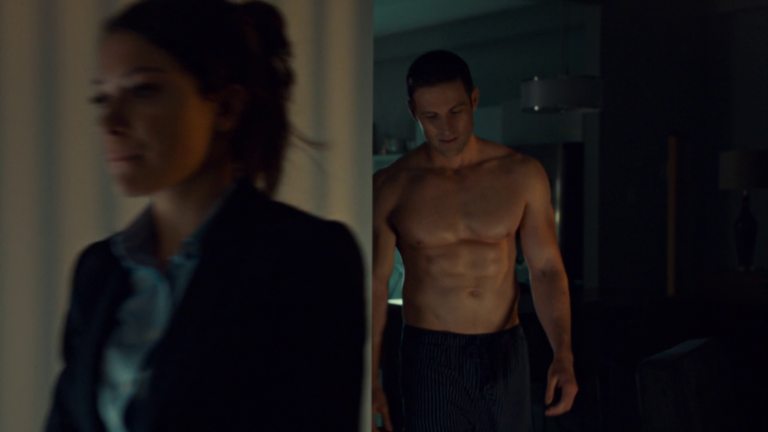 "Dylan Bruce as Paul Dierden shirtless in Orphan Black 4×01 ""The Collapse of Nature"""
