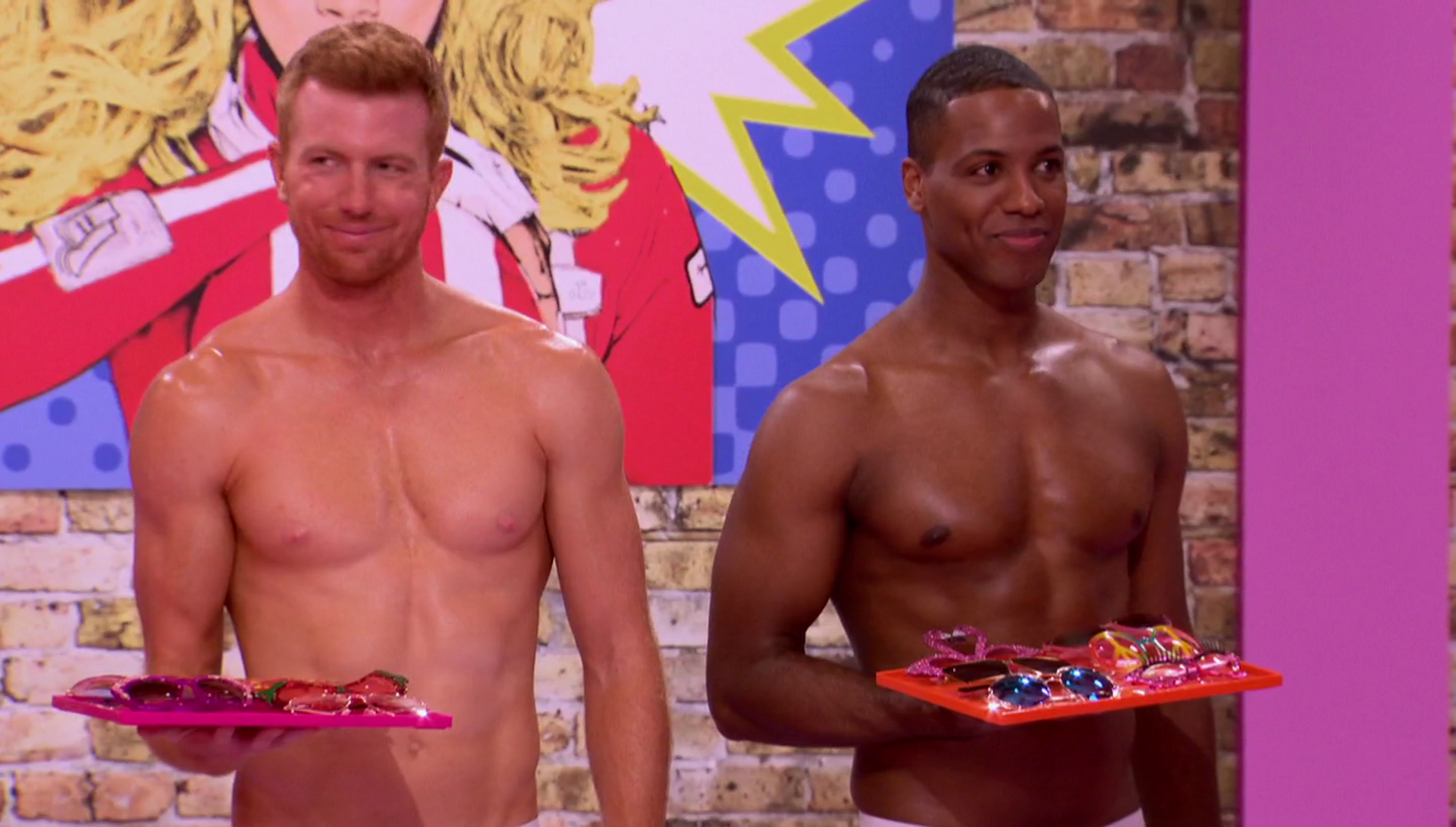 """RuPaul's Drag Race All Stars Season 3 Pit Crew shirtless in 3×01 """"All Star Variety Show"""""""
