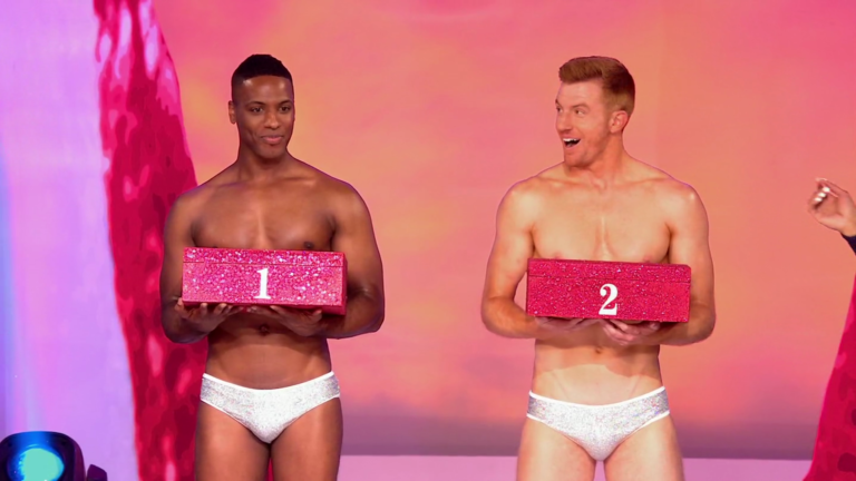 "Bryce Eilenberg & Jason Carter shirtless in RuPaul's Drag Race 9×14 ""Grand Finale"""