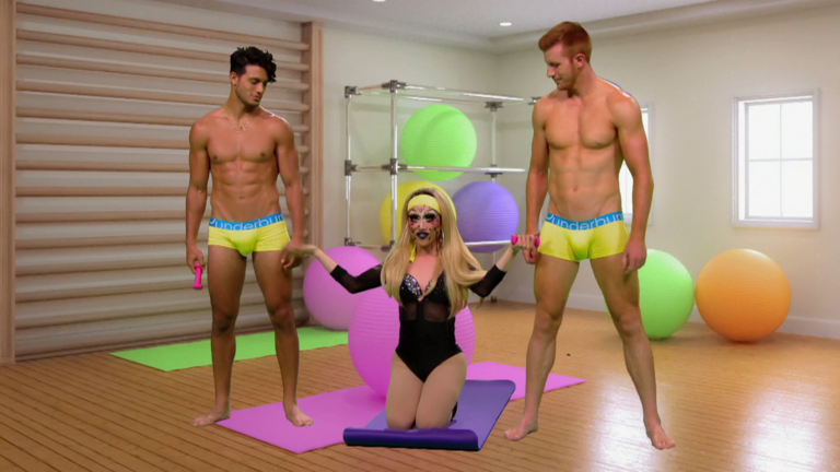 "Bryce Eilenberg shirtless in RuPaul's Drag Race 10×03 ""Tap That App"""