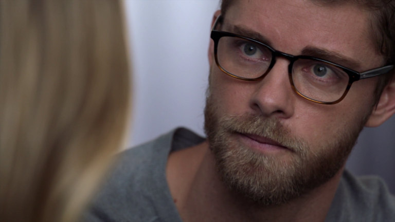 "Luke Mitchell as Roman in Blindspot 3×19 ""Galaxy of Minds"""