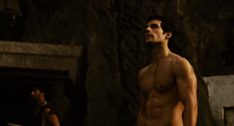 Henry Cavill as Theseus shirtless in Immortals